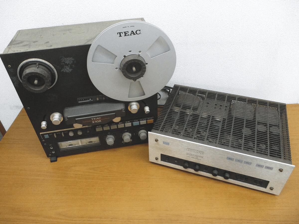 LUXMAN「LX-33」真空管アンプとオープンリールデッキ 「TEAC X-10R」を買取させていただきました