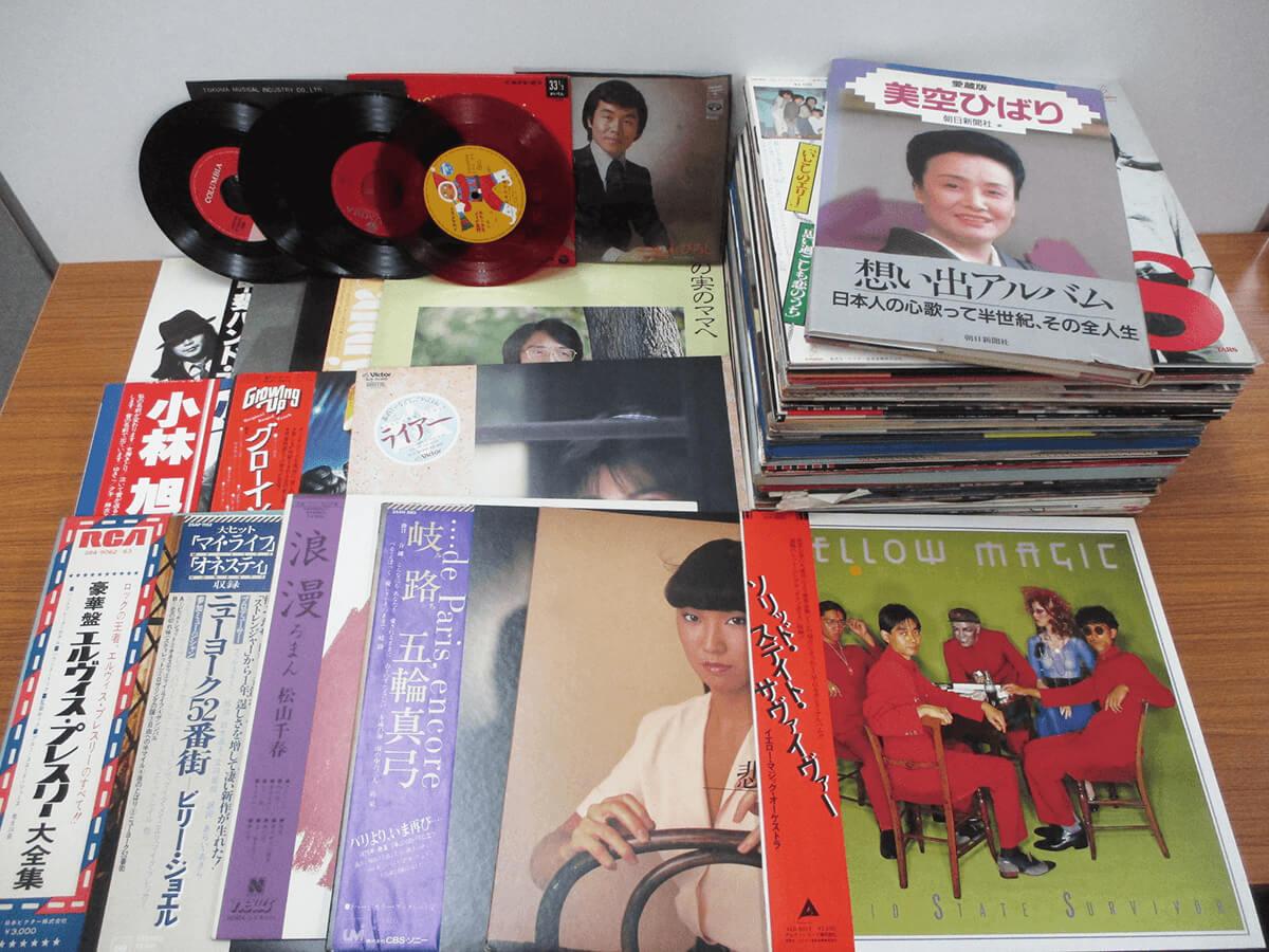 YMO、井上陽水、甲斐バンド、美空ひばり、エルヴィス プレスリー、ビリー ジョエルのレコードを買取しております