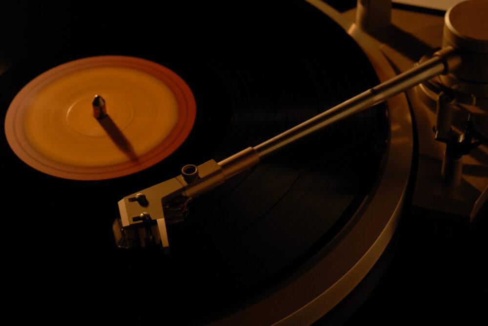 再生されるレコード