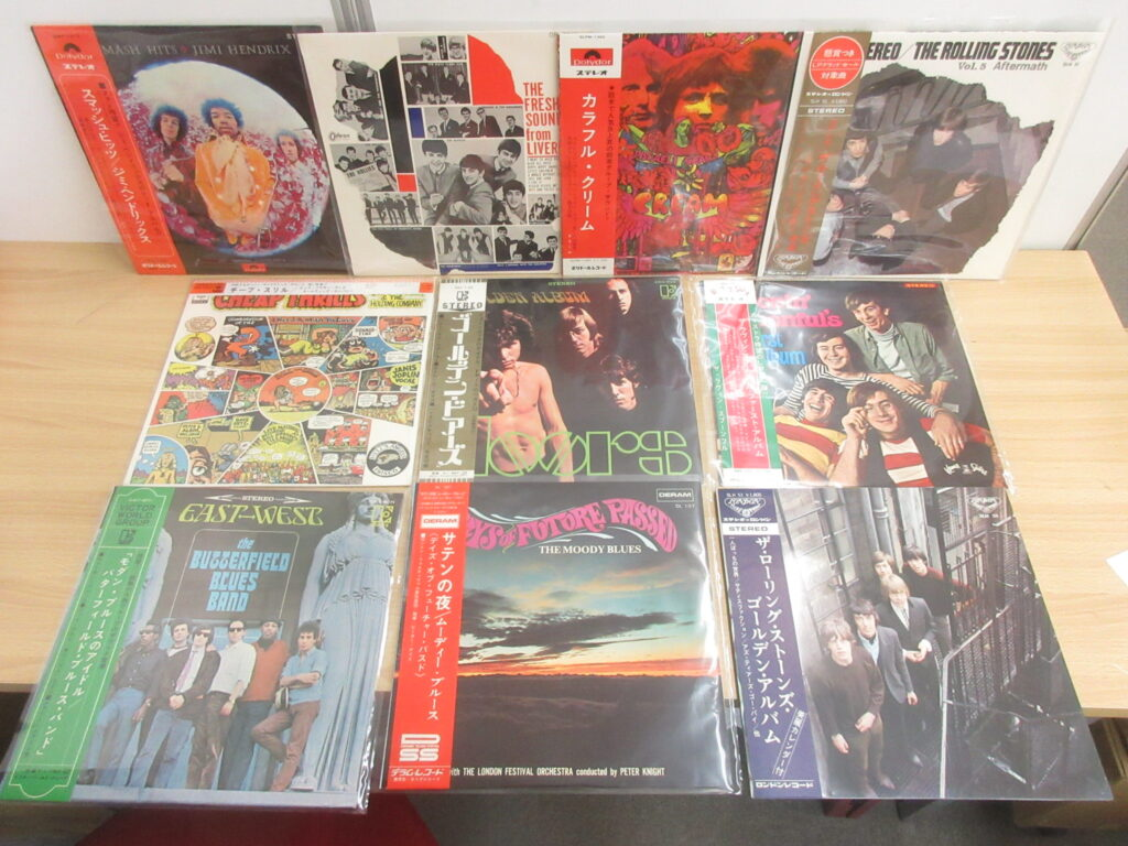 60年代~70年代ロックの国内盤レコード180枚